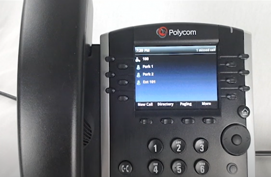 How to clear missed calls on Polycom Business Phone
